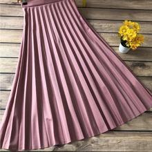 Women's Long Skirt Pink piliseli Women Muslim Clothing Skirt 2021 Fashion