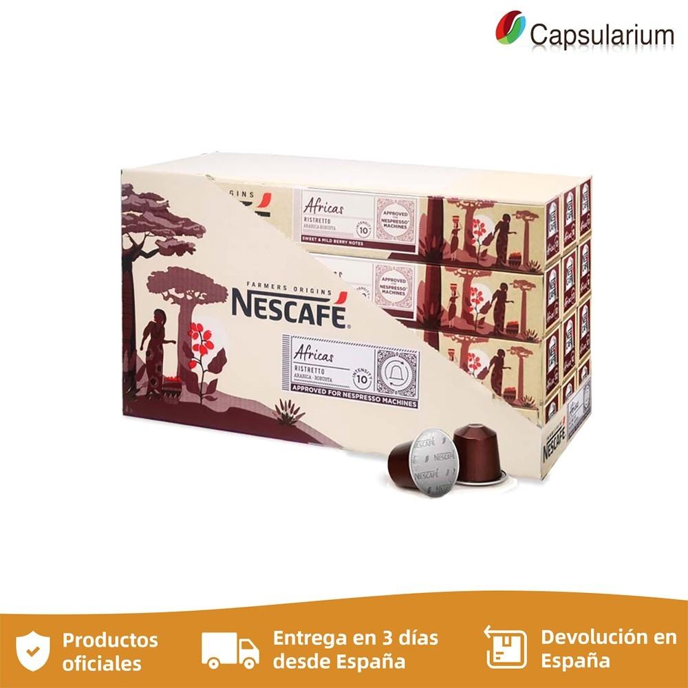Africas capsules nespresso 12 tubes aluminum 120 coffees saving format