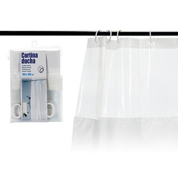 Zasłona prysznicowa (180 #215 180 cm) tanie i dobre opinie BigBuy Home ES (pochodzenie)