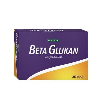 Aksu Vital Beta Glucan 30 Capsules Vitamin Mushroom Protein Natural Healthy Nutrition Food Supplement of Wheat Barley Sugar Oat 1