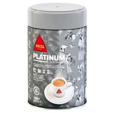 Platinum Natural roasted coffee, can 250 gr DELTA coffee