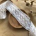 Кружево хлопок 45 мм Ажурные ромбы с двусторонними фестонами Белый, 10 см