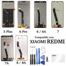 Ecran tactile LCD pour Xiaomi Redmi 5 Plus 6 Pro 7 7A 8 8A Originel Verre