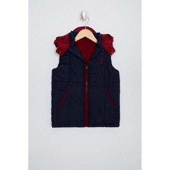 Usa Polo Assn Granatowa tkana kamizelka 50224495-VR033 tanie i dobre opinie U S POLO ASSN Navy blue Standard Woven Vest Male Child