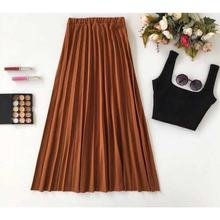 Women's Long Skirt Color piliseli Women Muslim Clothing Skirt 2021 Fashion