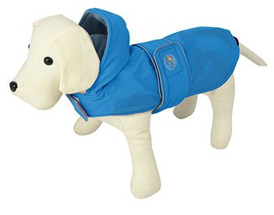 Nayeco Dog Raincoat Dança de chuva azul 80 cm