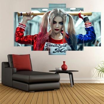 2021 nowy Harley Quinn 5-sztuka stół Mdf-Bad Girl-organizator dekoracji wnętrz-Quinn Cosplay stół-dekoracyjne domu darmowa wysyłka tanie i dobre opinie TR (pochodzenie)