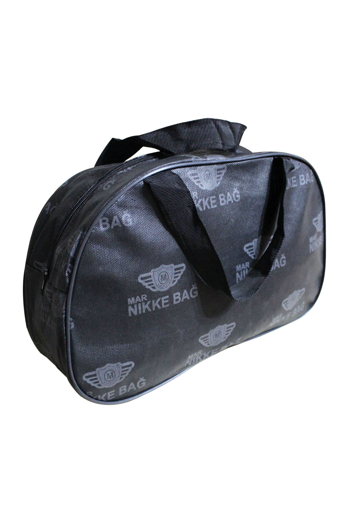 Unisex Black Sports Bag, Solid, Economic, Convenient, Large, Quality Zipper, for Daily Use Writing Printed
