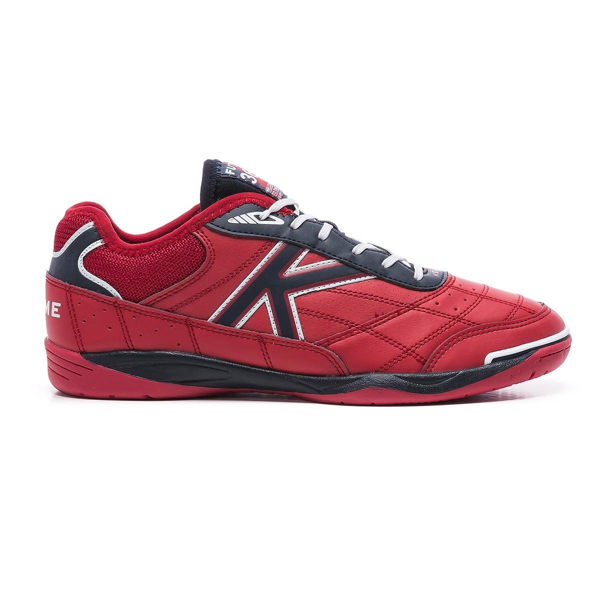 Kelme – chaussures de football en cuir synthétique, chaussures de salle unisexes, boutique officielle Goleiro rouge, fabriquées en 100%, 55905 – 863, automne-hiver 20 1