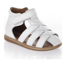 2021 Summer Baby Girl Sandals Shoes Ws 3140 White Orthopedic Genuine Leather Made in Turkey