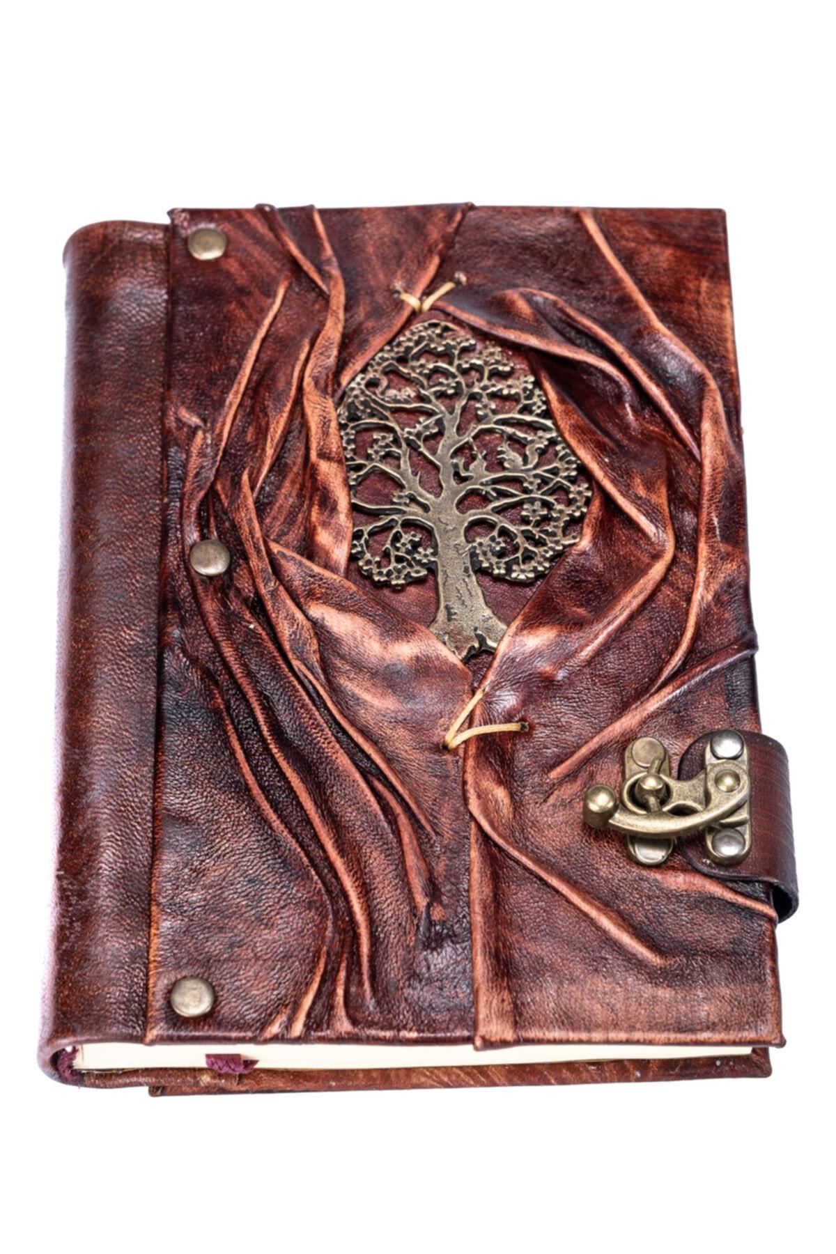Handmade Genuine Leather Souvenir Book Casual vintage daily keep note handmade travel notepad notebook brown genuine