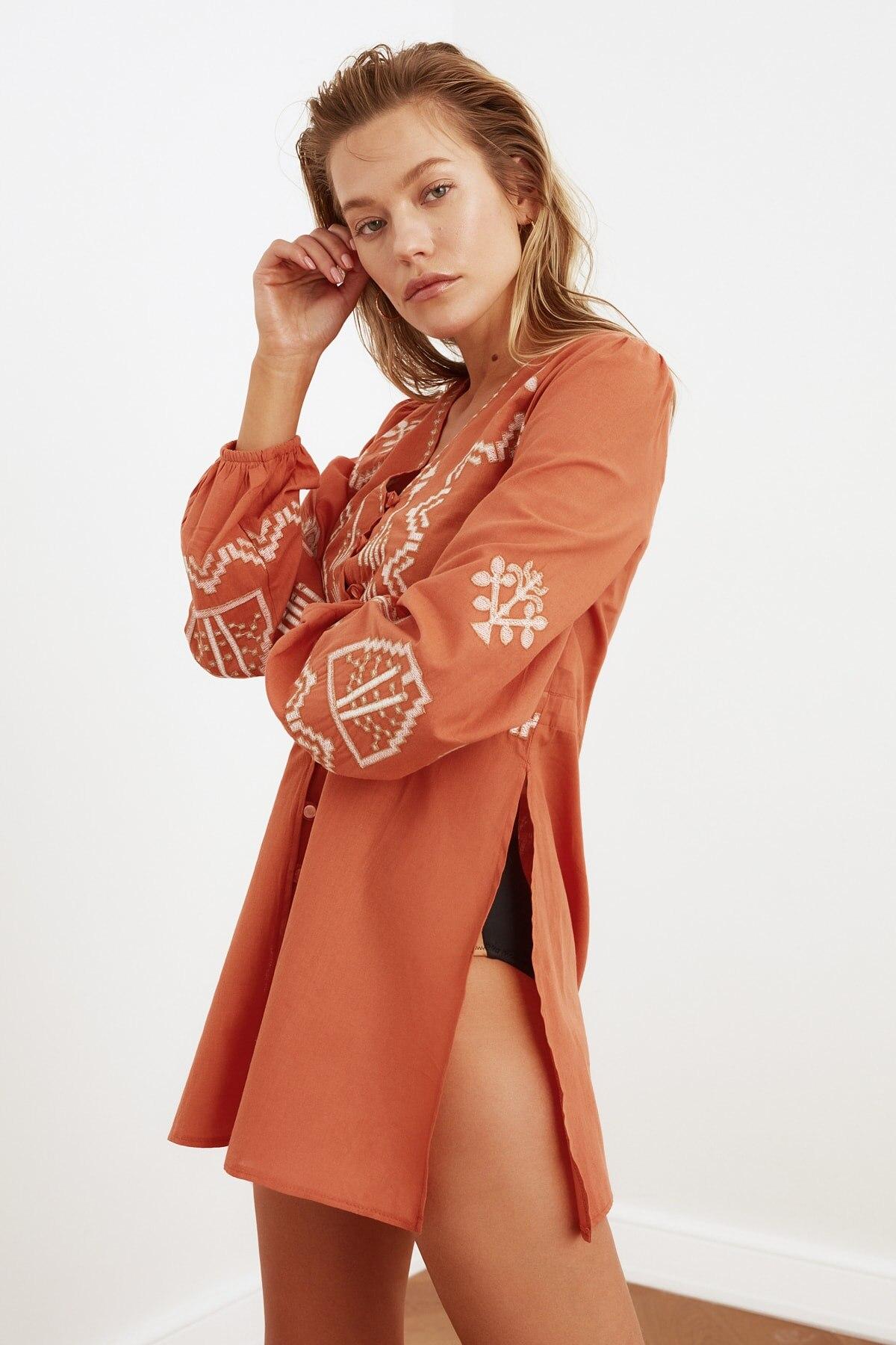 Trendyol Embroidered Ethnic Beach Dress TBESS21EL3320