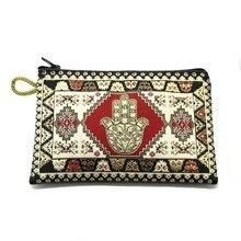 BDM – sac à main en tissu à fermeture éclair, main de Fatima, carter turc.