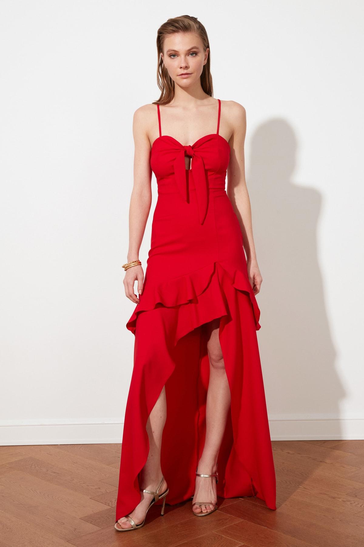 Trendyol Collar Detail Evening Dress & Prom Gown TPRSS21AE0098