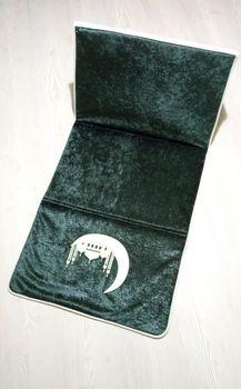 2021 nowy islamski muzułmanin składany dywanik modlitewny Salat Musallah modlitwa dywan dywan Tapete Banheiro podróży islamski dywanik modlitewny 55*110cm tanie i dobre opinie seccade TR (pochodzenie) Muzułmańskie zestawy Other Dla osób dorosłych
