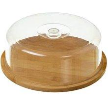 Quesera base madera tapa plastico 28 cm