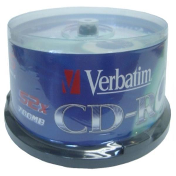 CD-R Verbatim 43432 700 MB 52x (25 uds)