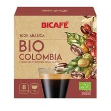 BIO COLOMBIA Bicafé, 12 capsules 100% Arabica compatible DOLCE GUSTO®. Coffee from Colombia 100% organic.