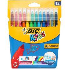 Stylo de peinture en feutre lavable pour enfants, 12 couleurs