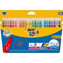 Bic – stylo à peinture en feutre lavable pour enfants, 24 couleurs disponibles