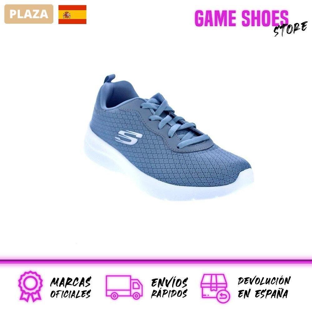 Skechers Mujer Zapatillas Bajas Modelo Dynamight Deportivas Urbanas Color Gris Moda Mujer Zapatos Originales