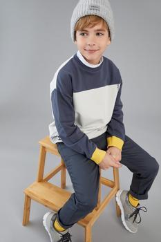 DeFacto wiosna chłopiec bluzy i swetry kolor zablokowany organiczna bawełniana bluza Dailywear Streetwear Fashion-T7841A621SP tanie i dobre opinie TR (pochodzenie) dostępna Drukuj Chłopcy Aktywne COTTON