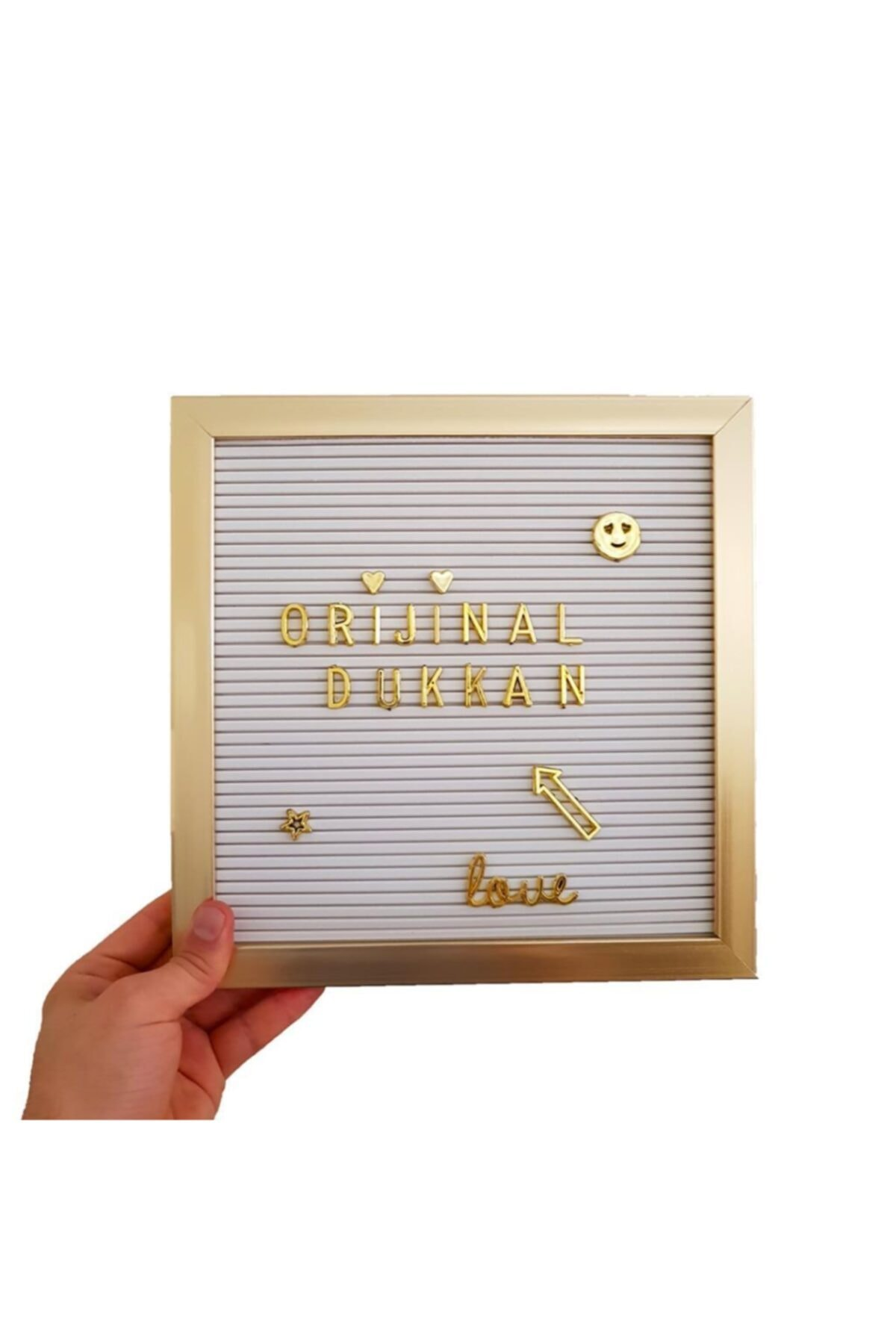 New Season Hot Sale Wooden Gold Framed White Writing Message Board Board 140 Gold Letters Changeable   Very colorful
