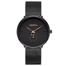 Männer Quarzuhr Business Mesh Armband Uhr Beliebte Schüler Minimalis Mode männer Uhr Nicht-Mechanische uhr Stabile Sp cheap