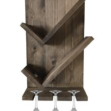 Wooden Wine Rack Drink Stand Solid Wall Goblet Rack Portable Easy Assembly Drink Stand