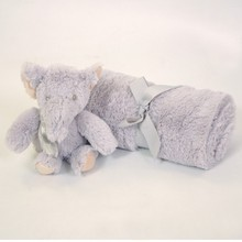 10xten box blanket + elephant plush