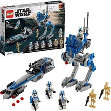 285 pieces Star Wars 75280 501st Legion Clone Trooper Building Kit Creative Action Kids Educational and Learning Toy