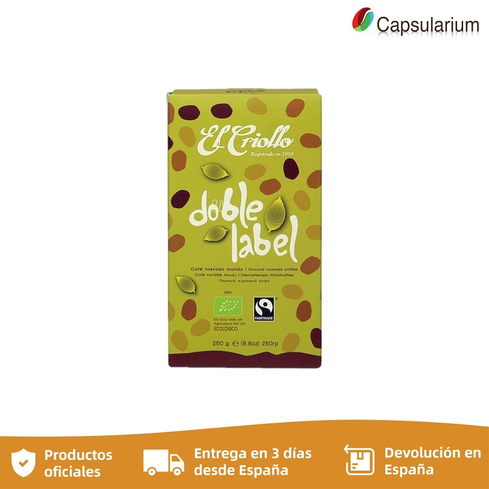 Cafe Criollo double Label , 250g organic ground coffee and fair trade