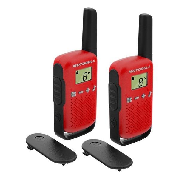 Рация Motorola T42 PMR446, ЖК-дисплей 1,3 дюйма, 4 км, красная (2 шт.) (восстановленная A +)