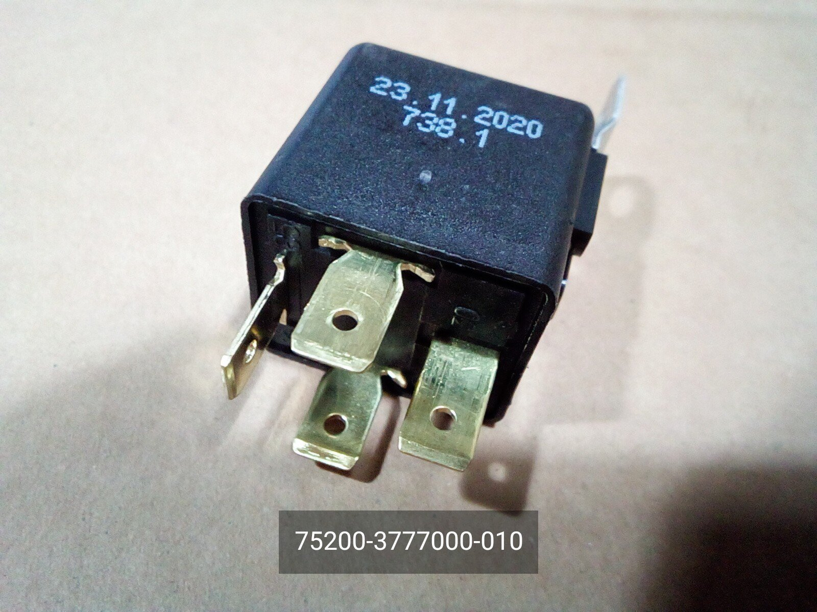 Relay electromagnetic 12V 4 pin (30a) 752.3777 10 Tu 37.469.093 2006 .752.3777.000 10 gas for gas GAZelle Business (1999