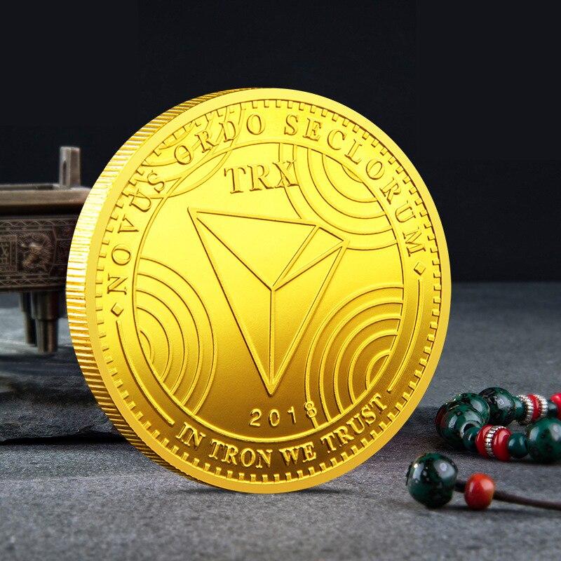 TRX TRON невалютная монета, памятная Серебряная или позолоченная монета