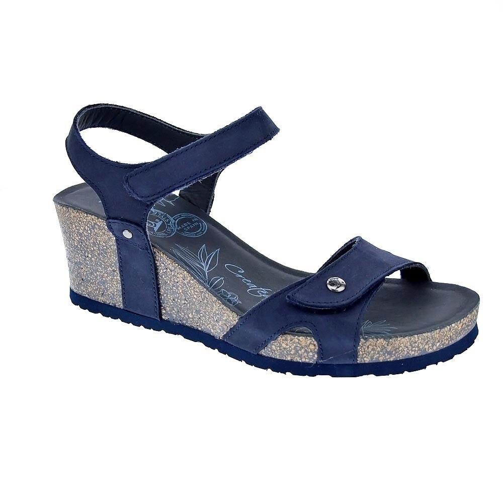 Panama Jack Mujer Sandalias Modelo Julia Basics B10 Color Azul Moda Mujer Verano Sandalias Casual 100 % Originales