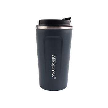 Kubek do kawy kubek z pokrywą ze stali nierdzewnej silikonowy metalowy kubek do kawy z izolacją wody przenośne termos na zewnątrz na prezenty tanie i dobre opinie CN (pochodzenie) kubki do kawy KRÓTKI Bez elementów z pokrywką Mugs Stainless Steel