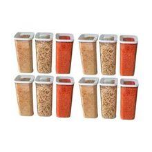 Recipiente de armazenamento de cozinha de 1700 ml 12 pçs legumes massas seco comido recipientes de armazenamento acessível peso leve durável design elegante