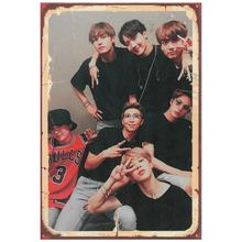 Bts Poster Looking Wooden Table Retro Digital and Quality Print MDF Stylish Design Production for Bts Fans Free Shipping