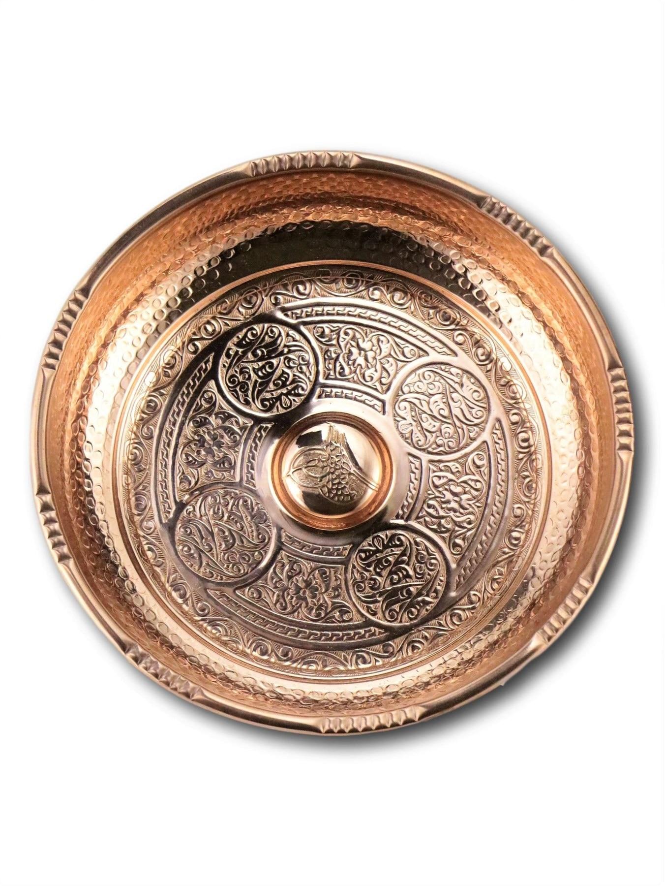Morya Copper Turkish 2baths Bowl Luxory Bathroom Accessories Elegant Decorative Hammared Handmade Decor Vintage 18 cm