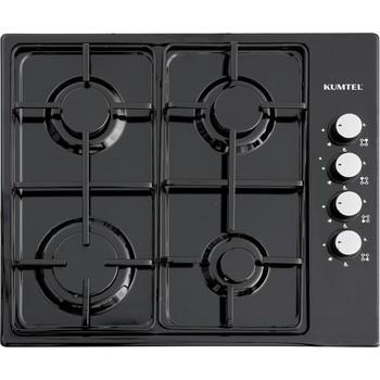 Kumtel KO-420F 4 oko gaza czarna kuchenka kuchenka-gaz ziemny tanie i dobre opinie CN (pochodzenie) Huśtawka ognia