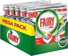 Fairy platinum plus tudo-em-um máquina de lavar louça comprimidos a granel, limão, 100 comprimidos perfume limão máquina de lavar louça mais limpa fragrância