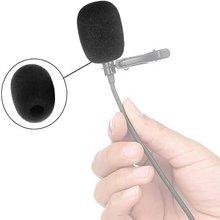 Cubiertas Antiviento Microfono Auriculares de Solapa 10 uds Negro