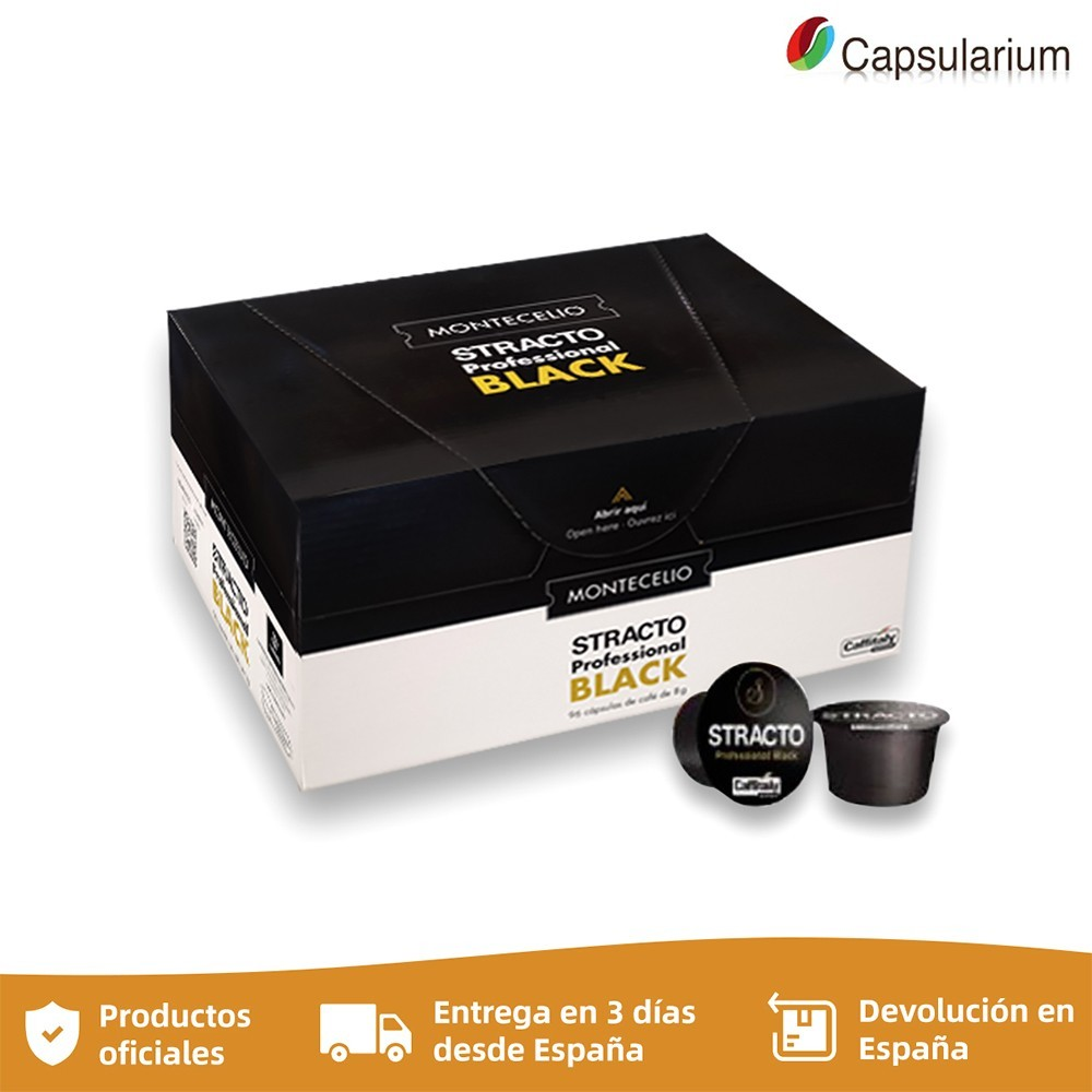 Stracto Profesional Black, 96 8g capsules, compatible with Caffitaly