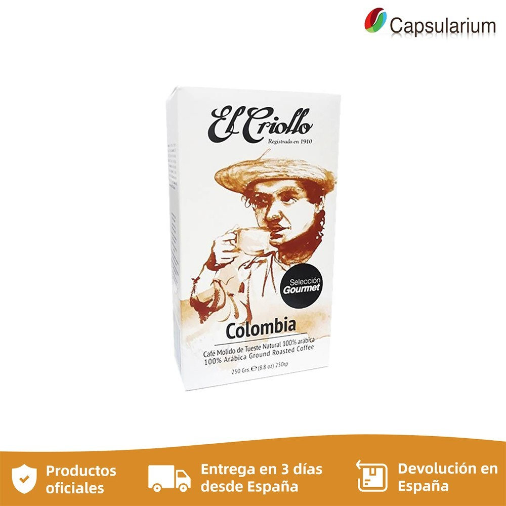 Cafe El criollo COLOMBIA , 250g ground coffee selection Gourmet