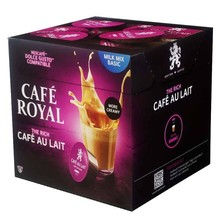 Coffee au lait Cafe Royal, 16 capsules for dolce taste in protective atmosphere