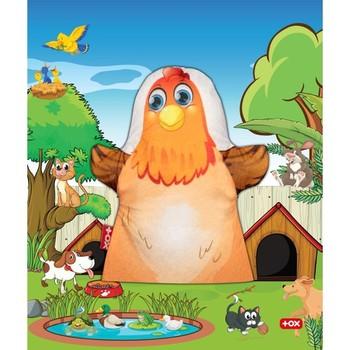 Tox 1 sztuka pacynka zwierzęta domowe kurczak czuł pacynka rozwój i edukacja dziecka figurka zabawka zabawki edukacyjne tanie i dobre opinie