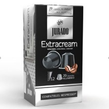 Extracream coffee jury, 20 aluminium capsules for Nespresso