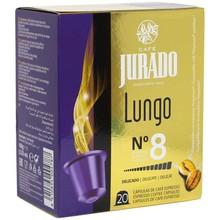 Lungo coffee jury, 20 plastic capsules for Nespresso