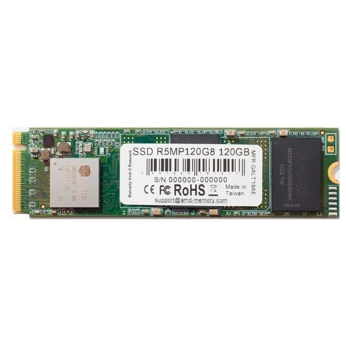 Накопитель SSD AMD Radeon M.2 2280 R5MP120G8, 120Гб, PCI-E